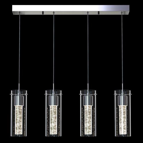 Artika Essence 27 Watt Chrome Integrated Led Pendant Ome59b Hd2d The Home Depot In 2020 Pendant Lights Chandeliers Pendant Light Modern Kitchen Pendant Lights