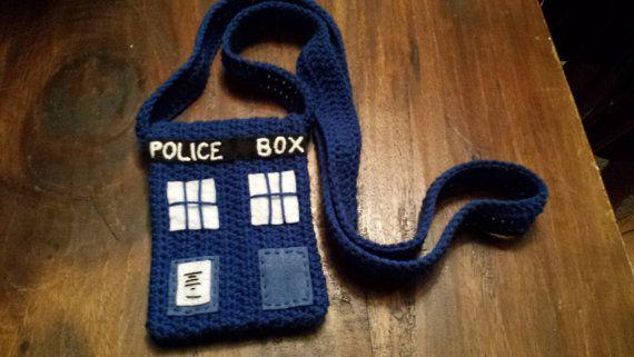 Dr.Who Tardis Inspired side bag crochet!!!!