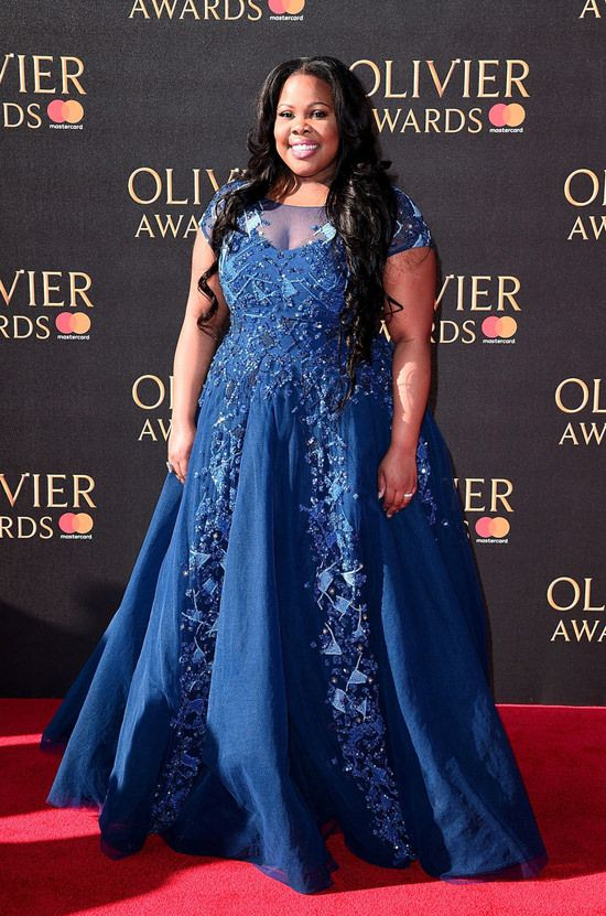 Amber Riley In Tony Ward Couture – 2017 Olivier Awards