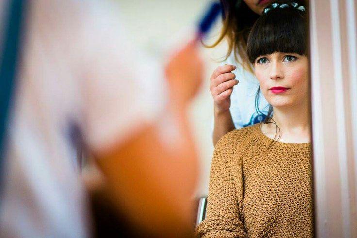 Hair and makeup by @scissorsofoz for the lovely christine #scissorsofoz
