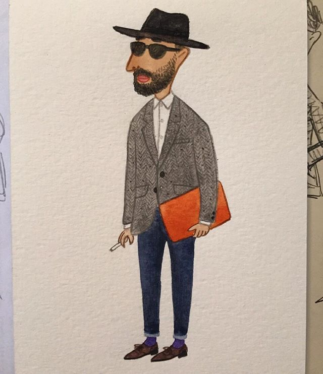 East Londoner #mensfashion #menswear #fashionillustration #streetfashion #eastlondon