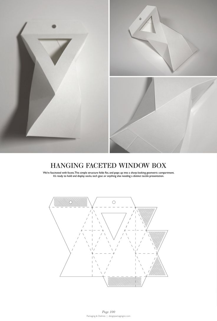 Hanging Faceted Window Box - Packaging & Dielines: The Designer's Book of Packaging Dielines