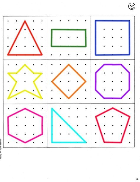 Geoboard pattern for busy bags