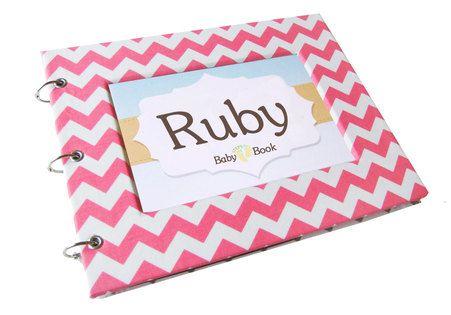 Chevron - Pink Baby Memory Book