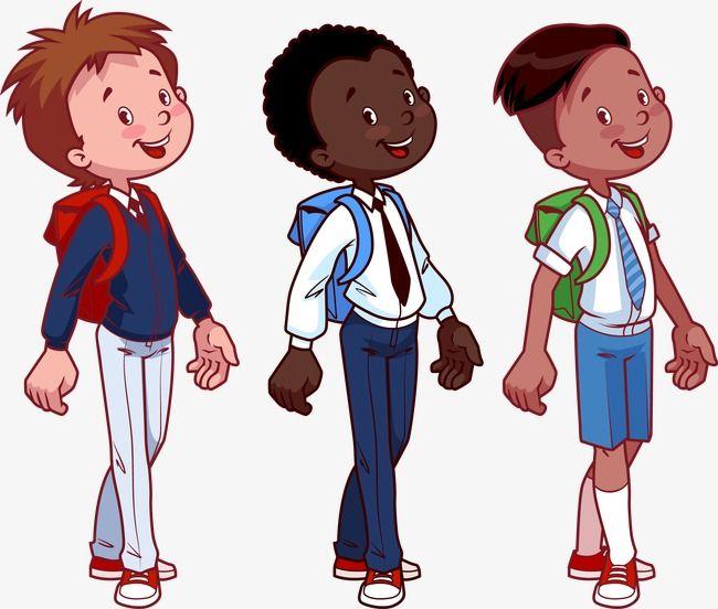 الطلاب يذهبون إلى المدرسة إقرار حزمة طالب يحمل شنطة مدرسية الذهاب إلى المدرسة Png والمتجهات للتحميل مجانا Student Clipart School Clipart Character