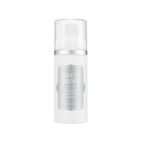 MISSHA For Men Refresh All In One Treatment Tone Up Essencs 100ml      Feature  Wrinkle improvement / whitening dual functional cosmetics  It makes the skin tone of the man naturally bright, and makes a clean impression.  No sticky finish  Skin-Essence-Lotion All in One     Volume  100ml     Weight  240g     How To Use  Please apply the appropriate amount evenly throughout the entire face and pat absorption.  * If you want to produce more clean skin, please increase the usage.