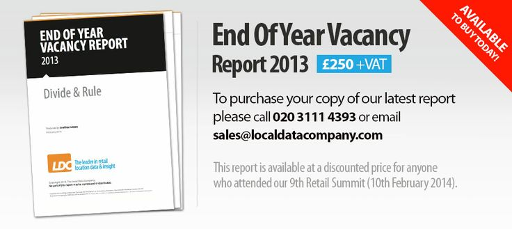 Local Data Company Retail summit, talking about retail vacancy rates and changes across the UK.