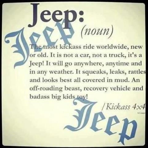 Jeep, that actual definition!
