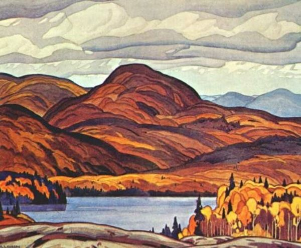 """A. J. Casson  Canadian, Member of The Group of Seven    1898 - 1992  """"Pike Lake"""""""