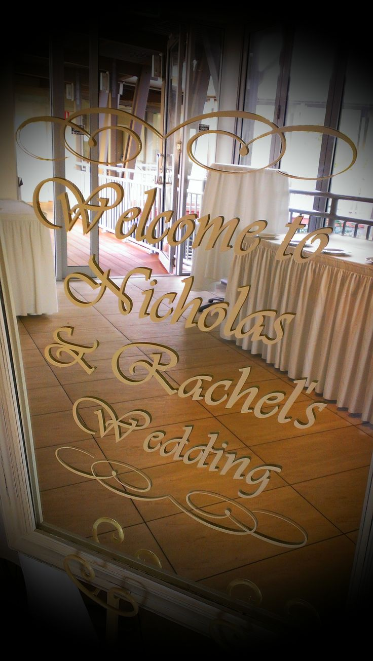 Welcome signage!