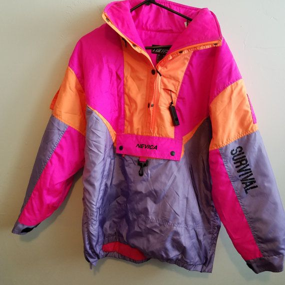 Check out this item in my Etsy shop https://www.etsy.com/listing/387555950/nevica-survival-neon-vintage-90s-ski