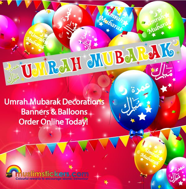 Our Umrah Mubarak balloons and banners are the latest addition to our Islamic Decorations Range,I was slightly unsure when I first decided to make them, but they have been so popular. I only decide...