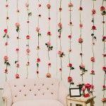 愛らしい花のインテリア*DIYフラワーウォールの作り方 from L.A.