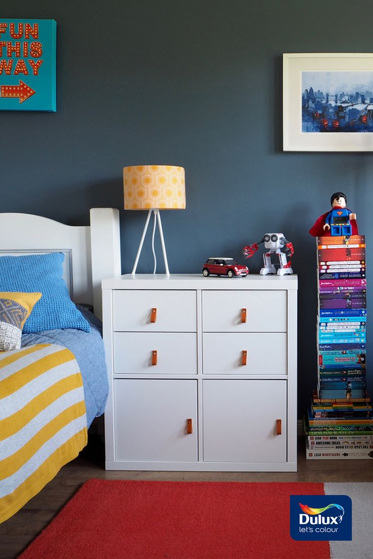 Striking blue shades created the ultimate kids bedroom for young George | by Seasons in Colour | Steel Symphony 1 & 4