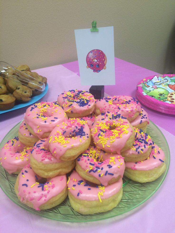 Shopkins birthday party food
