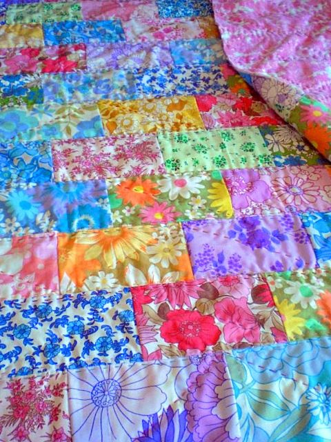 These bright 'vintage fabrics - Bobobun' quilted together are a modern design of an old traditional method.