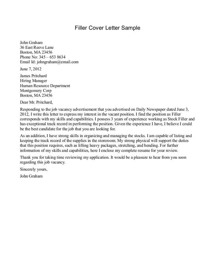 Más De 25 Ideas Increíbles Sobre Cover Letter For Internship En