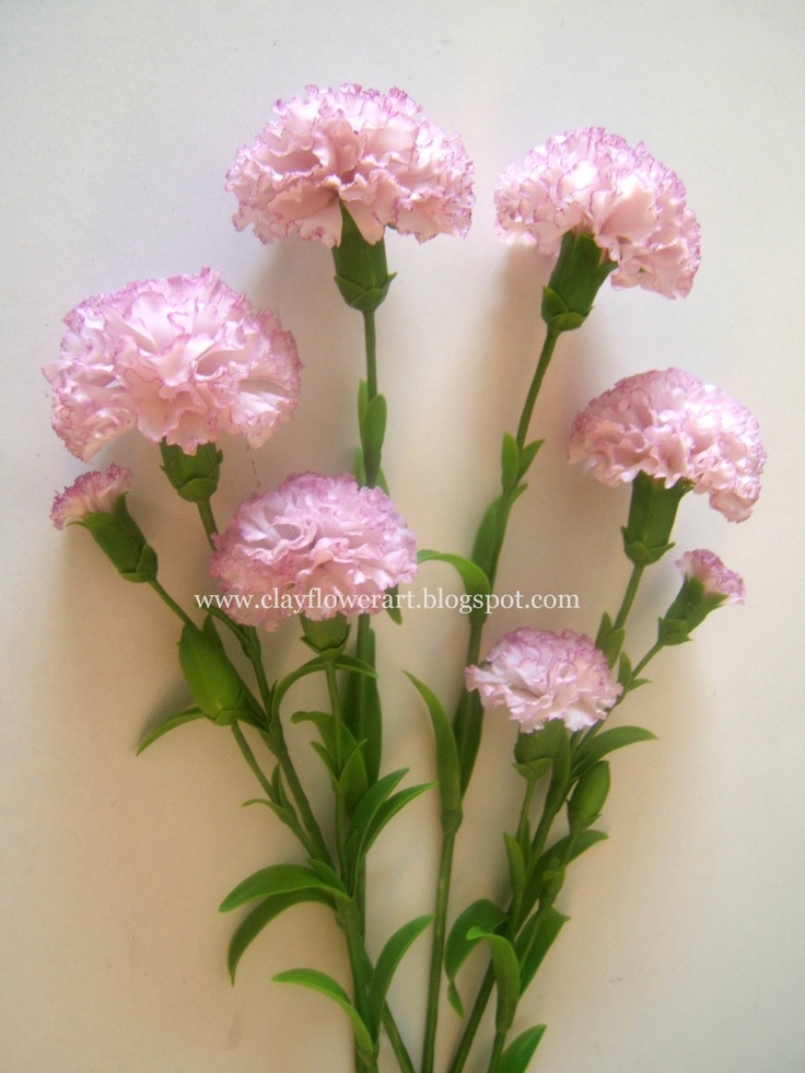 Carnation made out of Thai clay