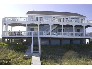 Oceanside view of house - WaveWatch Inn - Topsail Beach - rentals