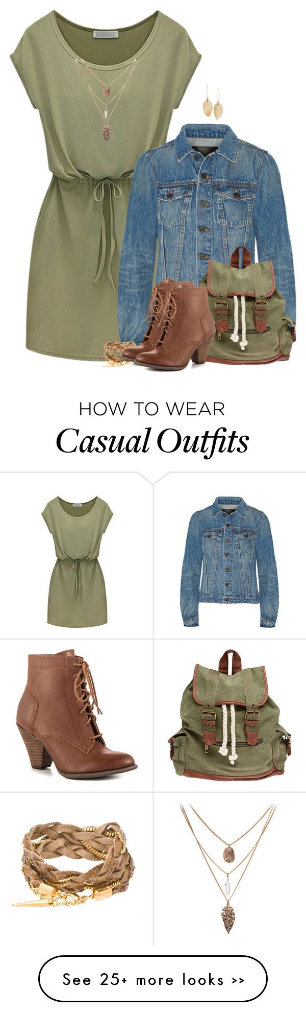 """Casual Dress & Denim Jacket 3"" by majezy on Polyvore featuring Proenza Schouler, Wet Seal, Mojo Moxy and Lulu*s"