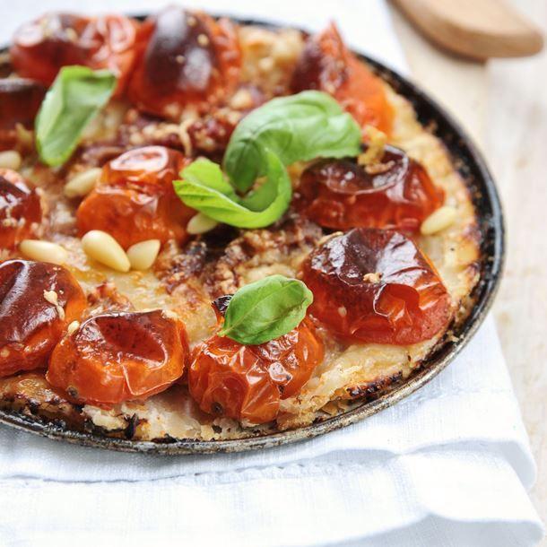 Tarte tatin de tomates et jambon de Parme