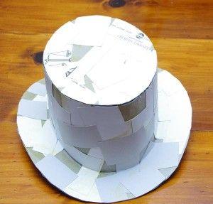 Homemade Steampunk Top Hat, watch video for foam version