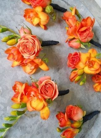 Orange Wedding Flower Boutonniere,  Orange Wedding | Orange Bridal Earrings | Orange Wedding Jewelry | Spring wedding | Spring inspo | Orange | Silver | Spring wedding ideas | Spring wedding inspo | Spring wedding mood board | Spring wedding flowers | Spring wedding formal | Spring wedding outdoors | Inspirational | Beautiful | Decor | Makeup |  Bride | Color Scheme | Tree | Flowers | Wedding Table | Decor | Inspiration | Great View | Picture Perfect | Cute | Candles | Table Centerpiece…