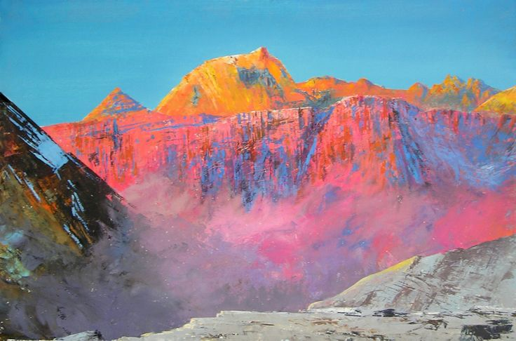 FINEARTSEEN - View Communism Peak (Ismail Somani Peak) by Valeriy Grachov. A stunning original oil painting of a place of wonder. Available on FineArtSeen - The Home Of Original Art. Enjoy Free Delivery with every order. << Pin For Later >>