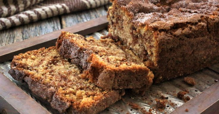 Moist cinnamon crumb bread - Everyday Dishes & DIY this reminds me of that brad I like from Costco.I'm going to top it with a thick white glaze.