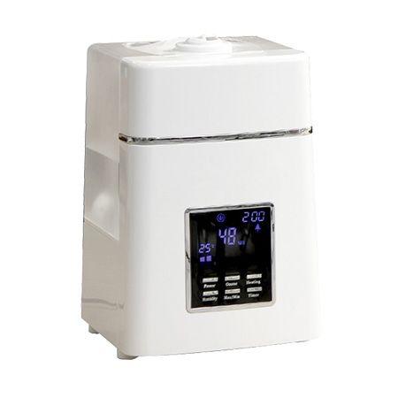 温度センサー、オゾンモード、タイマー付きと高機能超音波式とスチーム式のメリットを兼ね備えたハイブ...