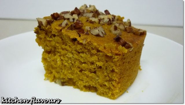 kitchen flavours: Pecan-Crusted Pumpkin Squares
