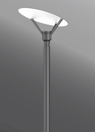 Ligman Lighting Syndy Oval Post Top A Post Top Luminaire With Excellent Downward Indirect Asymmetrical Light Dist Lighting Led Outdoor Lighting Led Lights