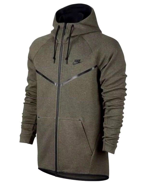 2e5c1f1a Nike Tech Fleece Windrunner Hoodie Jacket Mens 2XLT Olive Green ...