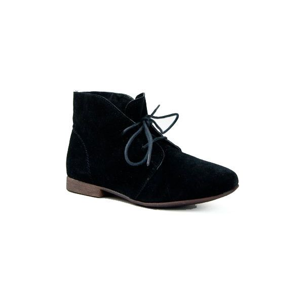 Breckelle's Sandy-61 Women Classic Lace Up Flat Desert Ankle Boot ($35) ❤ liked on Polyvore featuring shoes, boots, ankle booties, lace up booties, wedge boots, lace-up ankle booties, desert boots and lace up oxford flats