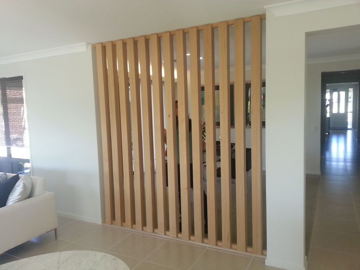 Timber screen between areas.
