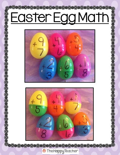 Here's an Easter egg math activity with a free recording sheet. Nice! Could also do horizontal recording...