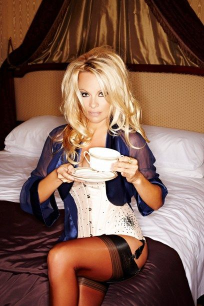 Pamela Anderson poses for Nokia