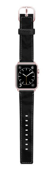 Casetify Apple Watch Band (38mm) Saffiano Leather Watch Band - BLACKER THAN BLACK (STEALTH MODE) APPLE WATCH by THE USUAL DESIGNERS #Casetify