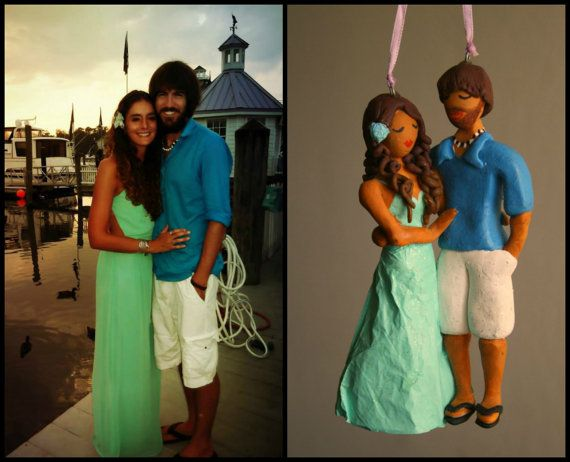 Valentine's Day Customized Couple Hand Sculpted by CrimsonMuse, $150.00
