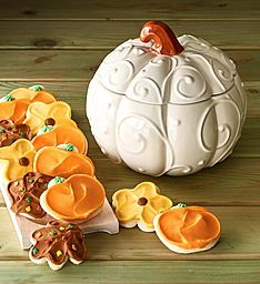 Cheryl's Cookies Collector's Edition Autumn Pumpkin Cookie Jar