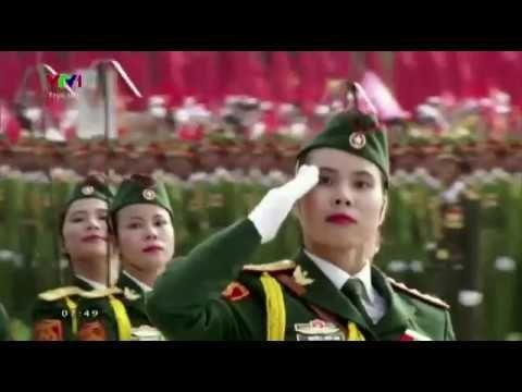 Vietnam Female soldier parade - Beautiful danger.