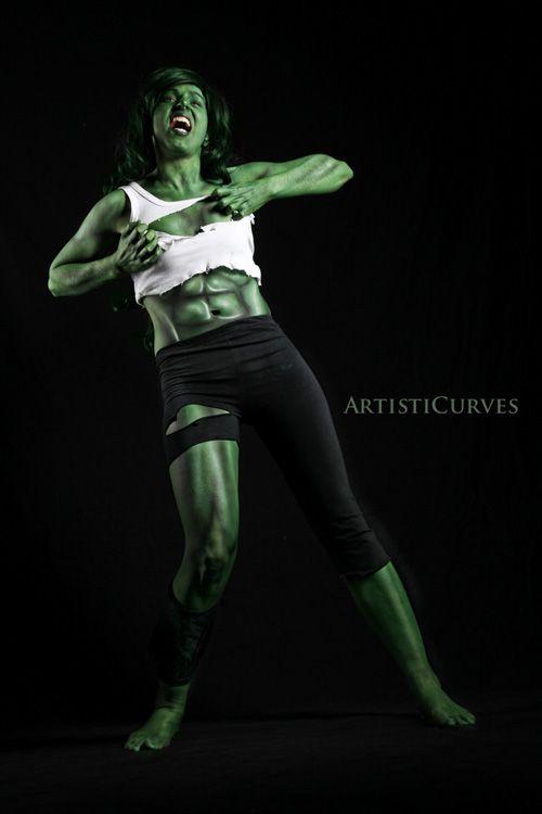 She-Hulk Body Paint