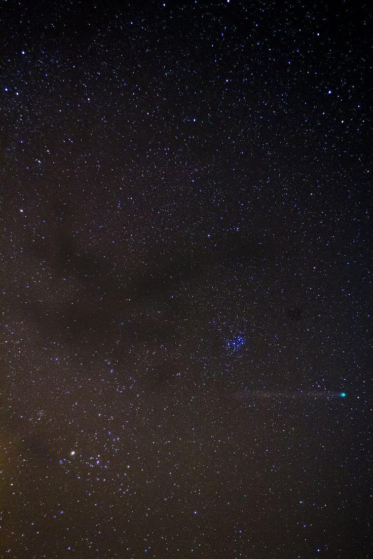 Comète Lovejoy dans la région du Taureau. Janvier 2015