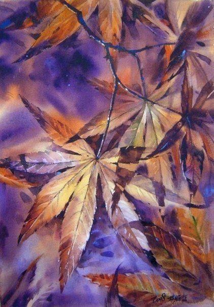 Акварельные пейзажи художника Lin Ching Che