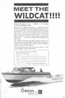 Owens 24' Wildcat Day Cruiser 1965 Ad Picture
