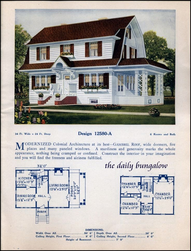 638 best Vintage House Plans images on Pinterest Vintage homes