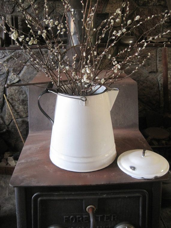 Vintage Enamelware Xtra Large Coffee Pot by SugarLMtnAntqs http://etsy.me/HYcD7F via @Etsy