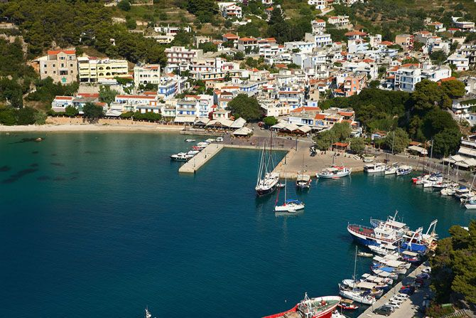 Patitiri Village of Alonissos Island