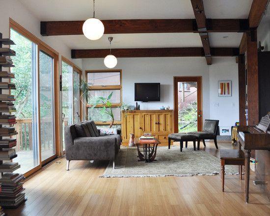 Mesmerizing Renovation Ideas For Mid Century Modern Home Stunning Living Room Wooden Floor Berkeley SQUAR ESTATE Architecture Inspiration