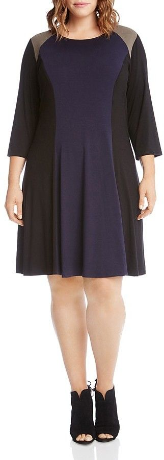Karen Kane Plus Color-Block Dress